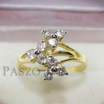 แหวนดอกลำดวน แหวนเพชร แหวนทองชุบ #3