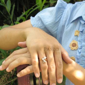 แหวนดอกลำดวน แหวนเพชร แหวนทองชุบ #4