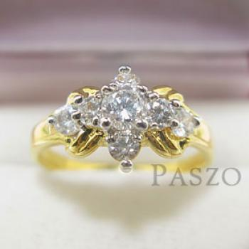 แหวนเพชร แหวนดาวกระจาย แหวนทองชุบ #2