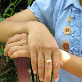 แหวนเพชร แหวนดาวกระจาย แหวนทองชุบ #4