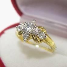 แหวนเพชร แหวนดาวกระจาย แหวนทองชุบ