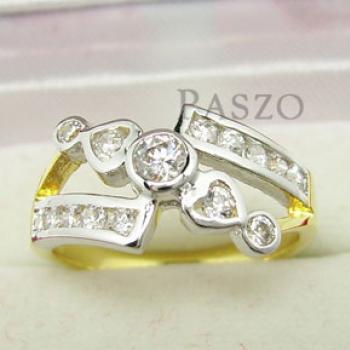 แหวนเพชร แหวนขาไขว้ แหวนทองชุบ #2