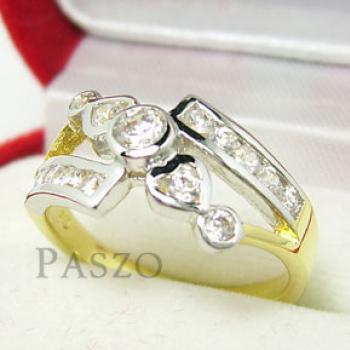 แหวนเพชร แหวนขาไขว้ แหวนทองชุบ #3