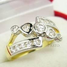 แหวนเพชร แหวนขาไขว้ แหวนทองชุบ