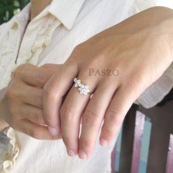 แหวนดอกไม้ แหวนดอกพิกุล แหวนเพชร #4