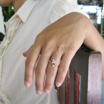 แหวนดอกไม้ แหวนเพชร แหวนทองชุบ #4