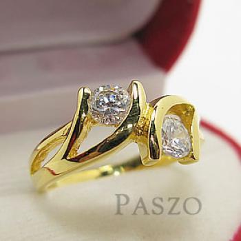 แหวนเพชร แหวนพลอยคู่ แหวนทองชุบ #3