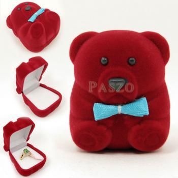 กล่องใส่แหวน รูปหมีเล็ก กล่องกำมะหยี่ #2