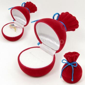 กล่องใส่แหวน กล่องใส่เครื่องประดับ ทรงถุงทอง #2