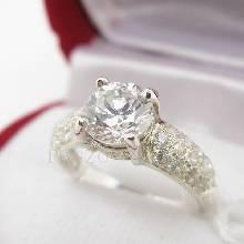 แหวนเพชร แหวนเงินฝังเพชรน้ำงาม แหวนเงินฝังเพชร
