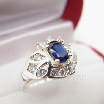 แหวนไพลิน แหวนเงินแท้ฝังพลอยไพลิน พลอยสีน้ำเงิน #3