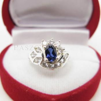แหวนไพลิน แหวนเงินแท้ฝังพลอยไพลิน พลอยสีน้ำเงิน #4