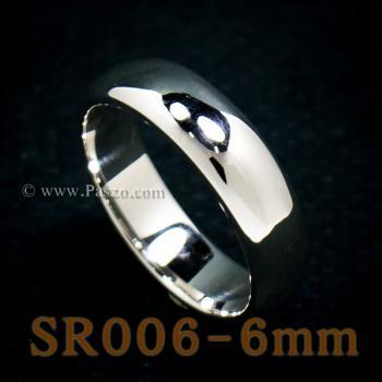 แหวนเกลี้ยงหน้าโค้ง กว้าง6มิล แหวนปลอกมีด #5