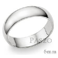 แหวนเกลี้ยงหน้าโค้ง กว้าง6มิล แหวนปลอกมีด แหวนขอบมน แหวนเงินแท้ แหวนเงินเกลี้ยง