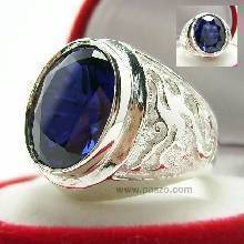 แหวนมังกร แหวนไพลิน แหวนพลอยผู้ชาย แหวนเงินแท้ แหวนพลอยสีน้ำเงิน สลักลายมังกร แหวนผู้ชาย