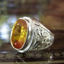 แหวนมังกร แหวนพลอยสีเหลือง แหวนผู้ชายเงินแท้ ฝังพลอยบุษราคัม แหวนเงินแท้ 925 แหวนผู้ชาย