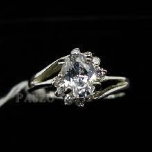 แหวนเพชร แหวนเงินแท้ แหวนเงินฝังเพชร