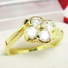 แหวนดอกไม้ แหวนทองชุบ แหวนเพชร