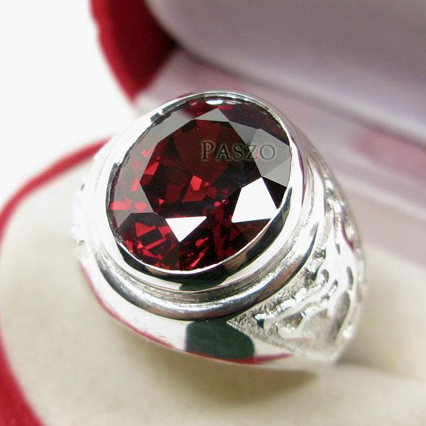 แหวนโกเมน แหวนผู้ชาย พลอยโกเมน #2