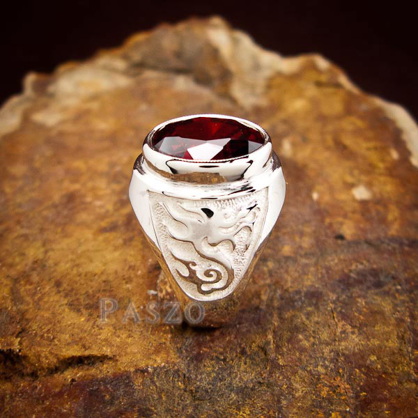 แหวนโกเมน แหวนผู้ชาย พลอยโกเมน #3