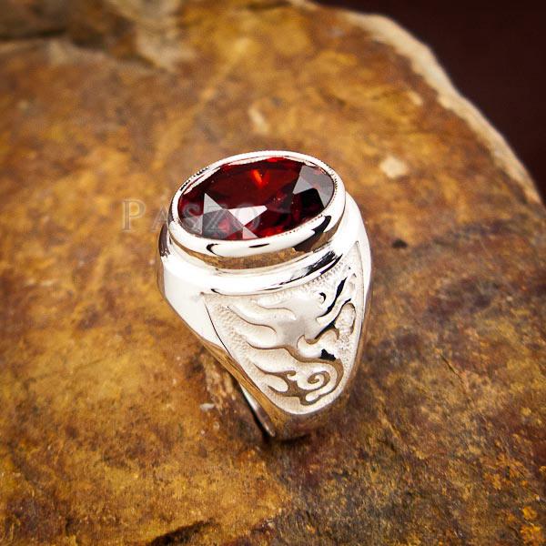 แหวนโกเมน แหวนผู้ชาย พลอยโกเมน #4