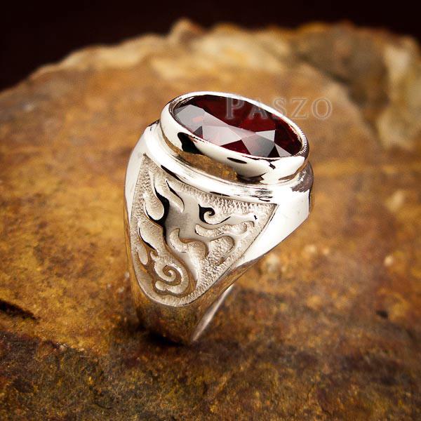แหวนโกเมน แหวนผู้ชาย พลอยโกเมน #5