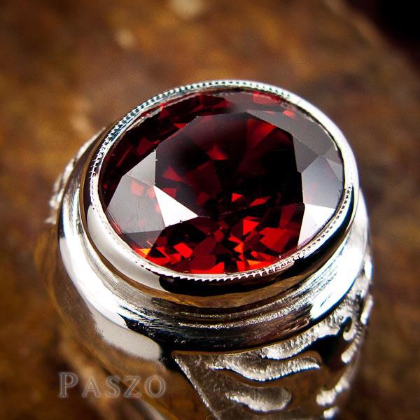 แหวนโกเมน แหวนผู้ชาย พลอยโกเมน #6