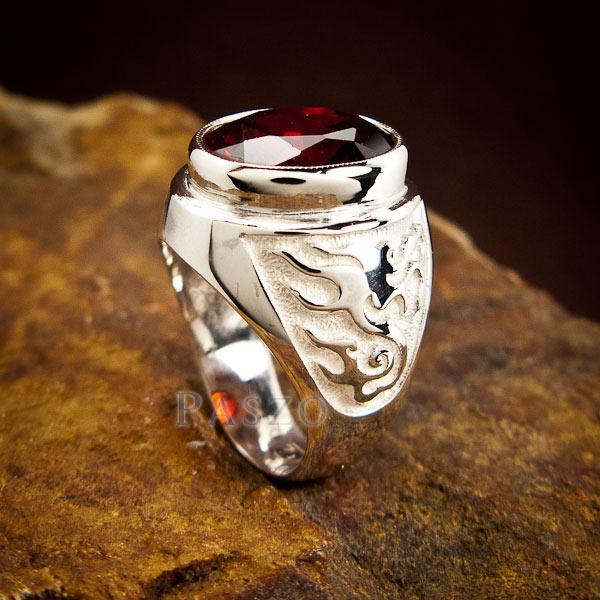 แหวนโกเมน แหวนผู้ชาย พลอยโกเมน #7
