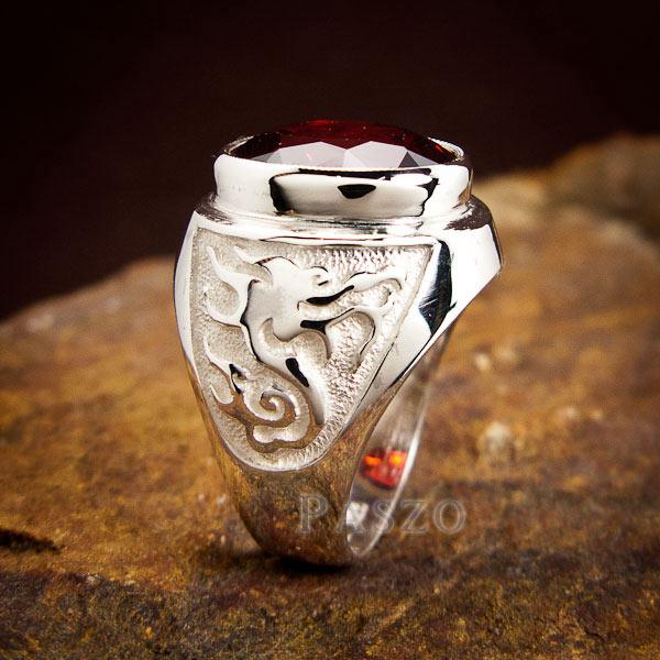 แหวนโกเมน แหวนผู้ชาย พลอยโกเมน #8