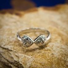 แหวนหัวใจ แหวนเงินแท้ ฝังเพชร แหวนเงินฝังเพชร