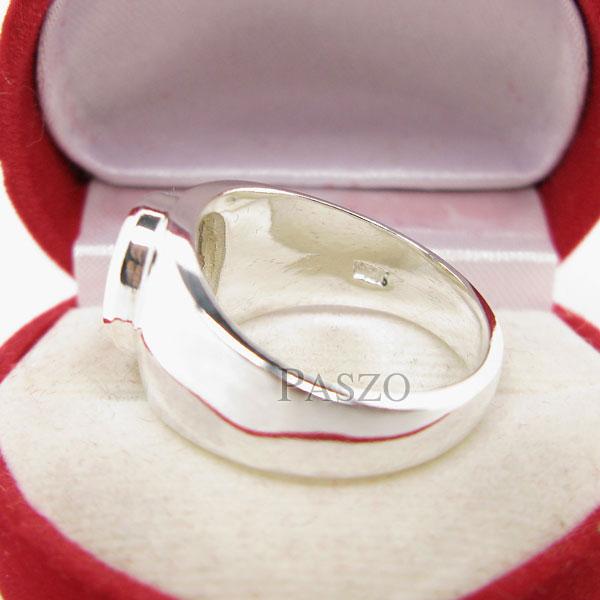 แหวนผู้ชาย ฝังนิล ตัวเรือนแหวนเงินแท้ #5