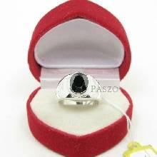 แหวนผู้ชาย ฝังนิล ตัวเรือนแหวนเงินแท้ แหวนสำหรับผู้ชานนิ้วเล็ก