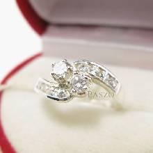 แหวนเพชร แหวนเงินฝังเพชร แหวนเงิน