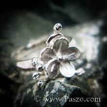 แหวนดอกไม้ แหวนเงินแท้