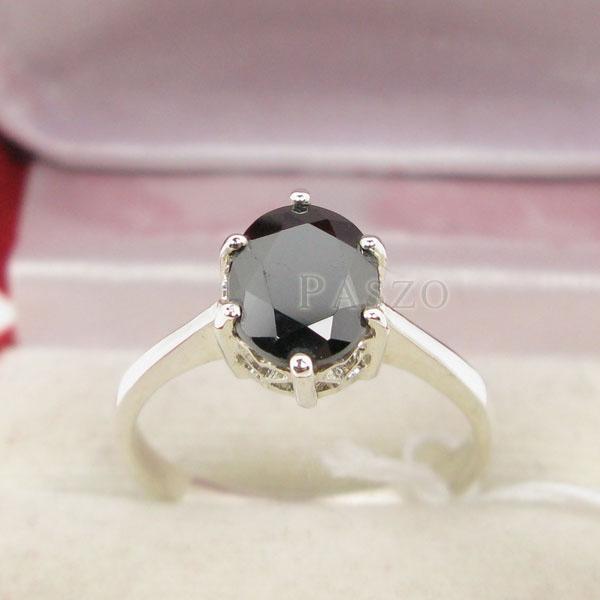 แหวนนิล แหวนพลอยเม็ดเดี่ยว แหวนผู้หญิง #2