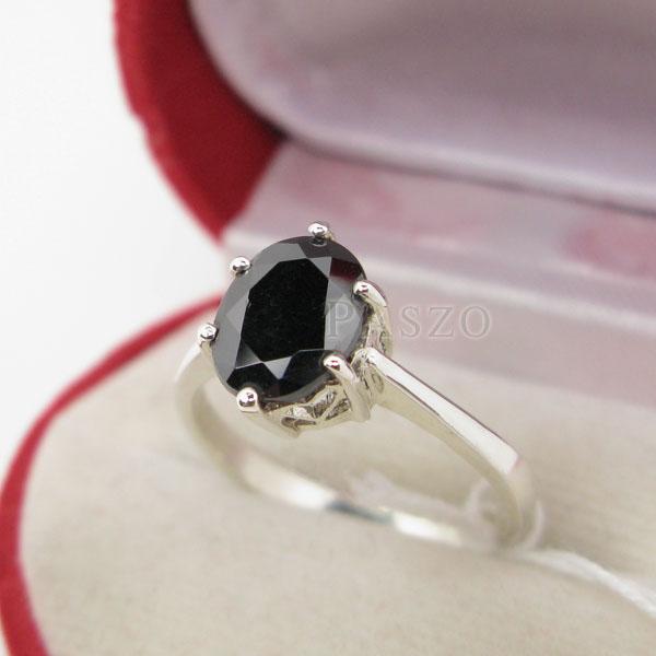 แหวนนิล แหวนพลอยเม็ดเดี่ยว แหวนผู้หญิง #3