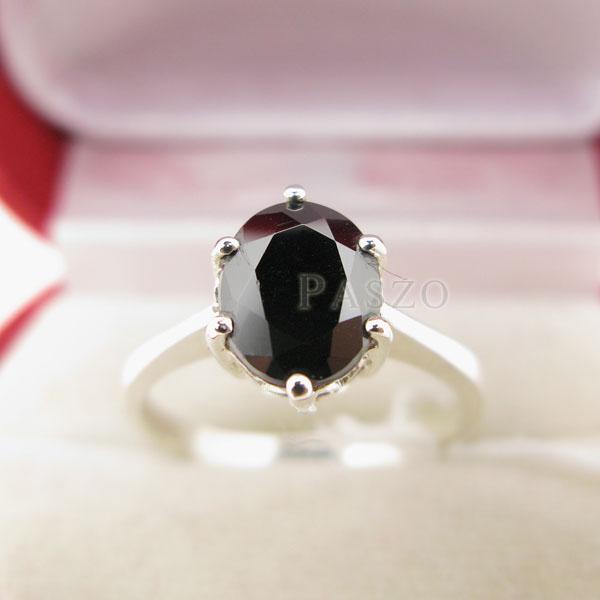 แหวนนิล แหวนพลอยเม็ดเดี่ยว แหวนผู้หญิง #4