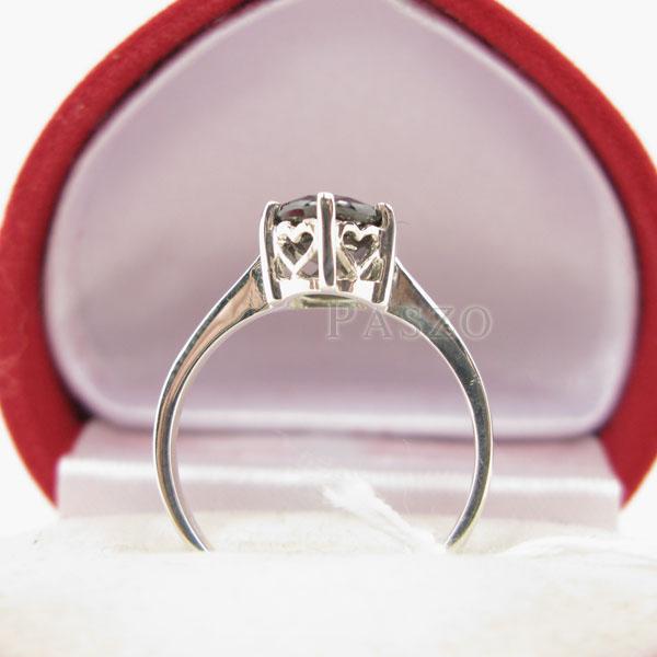 แหวนนิล แหวนพลอยเม็ดเดี่ยว แหวนผู้หญิง #5
