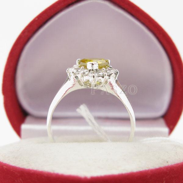 แหวนบุษราคัม พลอยสีเหลือง หัวใจ #3