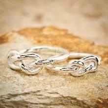 แหวนคู่ แหวนอินฟินิตี้ รุ่นใหญ่ แหวนเงิน