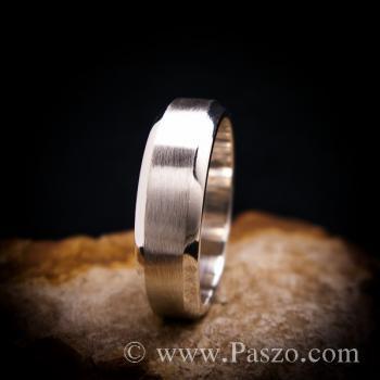 แหวนตะไบขอบเฉียง หน้ากว้าง8มิล ตรงกลางปัดด้าน #2