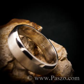 แหวนตะไบขอบเฉียง หน้ากว้าง8มิล ตรงกลางปัดด้าน #3