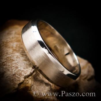 แหวนตะไบขอบเฉียง หน้ากว้าง8มิล ตรงกลางปัดด้าน #6