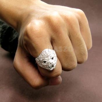 แหวนหนุมาน ฝังนิล พลอยสีดำ #5
