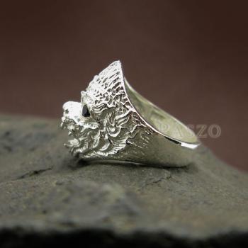 แหวนหนุมาน ฝังนิล พลอยสีดำ #4