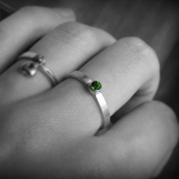 แหวนพลอยเขียว แหวนเงินแท้ พลอยมรกต #4
