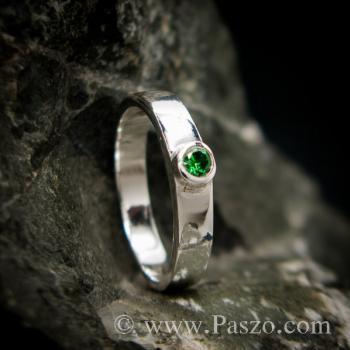 แหวนพลอยเขียว แหวนเงินแท้ พลอยมรกต #5