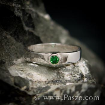 แหวนพลอยเขียว แหวนเงินแท้ พลอยมรกต #6