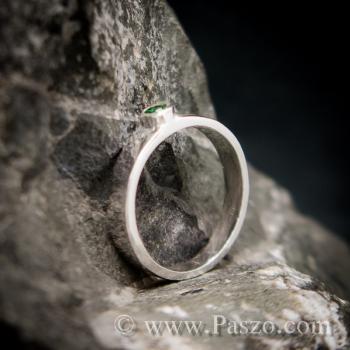 แหวนพลอยเขียว แหวนเงินแท้ พลอยมรกต #7