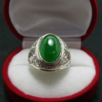 แหวนหยก แหวนผู้ชาย แหวนแกะลายไทย #2